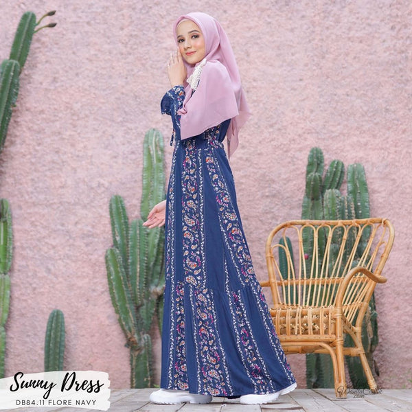 Sunny Dress - DB84.11 Flore Navy