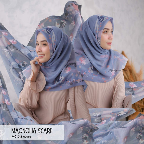 Magnolia Scarf ICY Voal - MG10.2 Azure