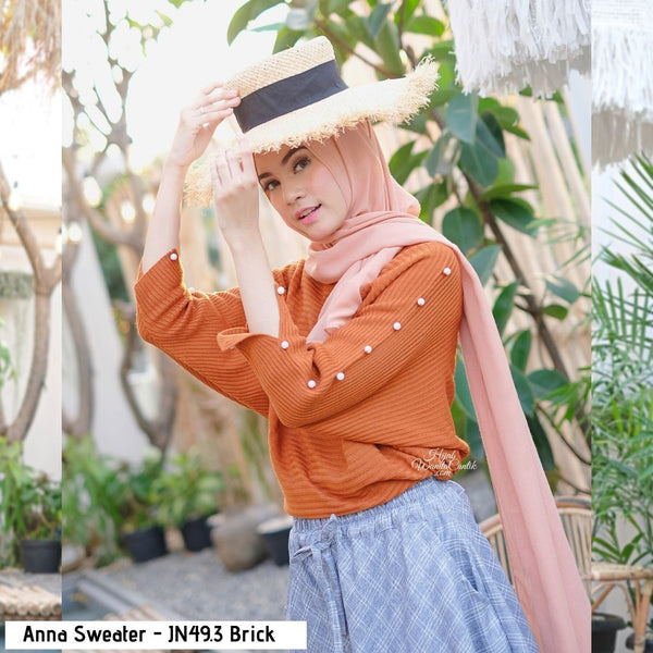 Anna Sweater - JN49.3 Brick