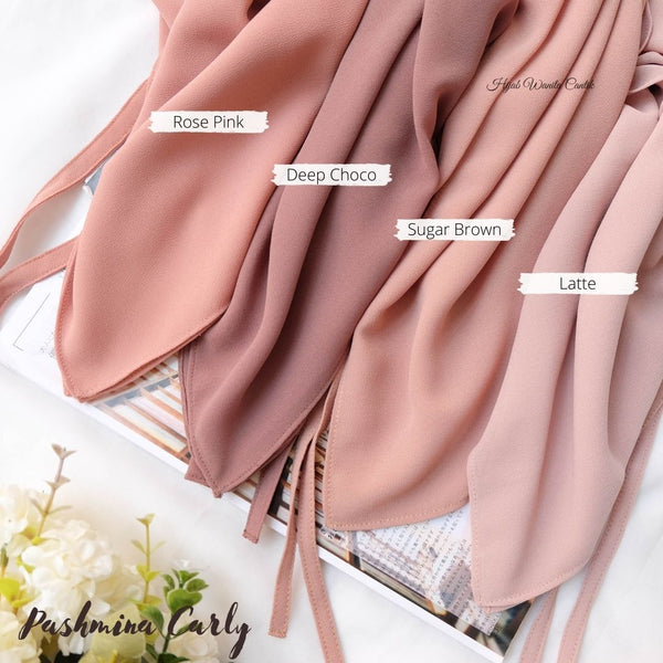 Pashmina Carly (dengan tali) - HT11.14 Yellow