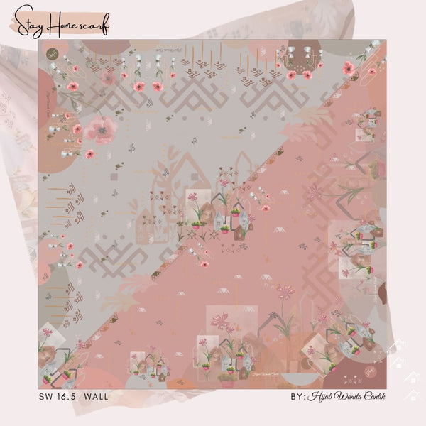 Segiempat Stay Home Scarf - SW16.5 Wall