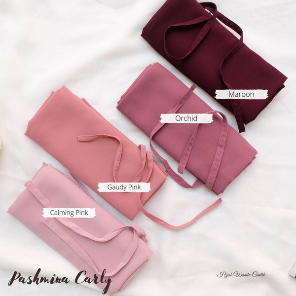 Pashmina Carly (dengan tali)  - HT11.29 Dusty Grape