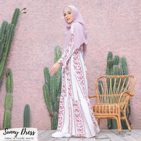 Sunny Dress - DB84.14 Flore White