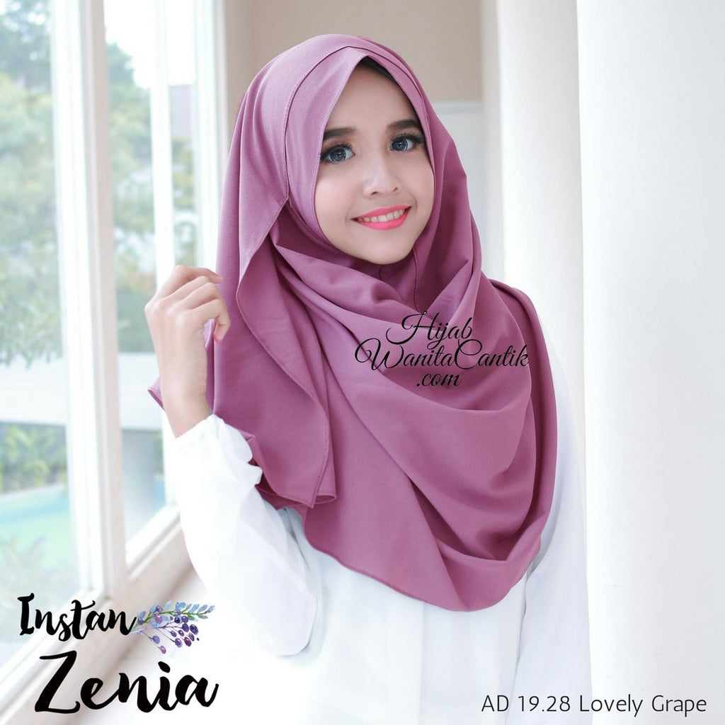 Pashmina Instan Zenia - AD19.28 Lovely Grape
