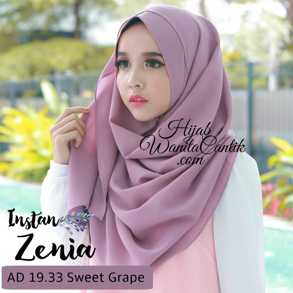 Pashmina Instan Zenia - AD19.33 Sweet Grape