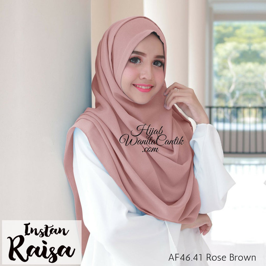 Pashmina Instan Raisa - AF46.41 Rose Brown