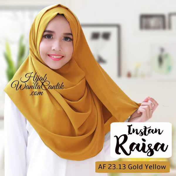 Pashmina Instan Raisa - AF23.13 Gold Yellow