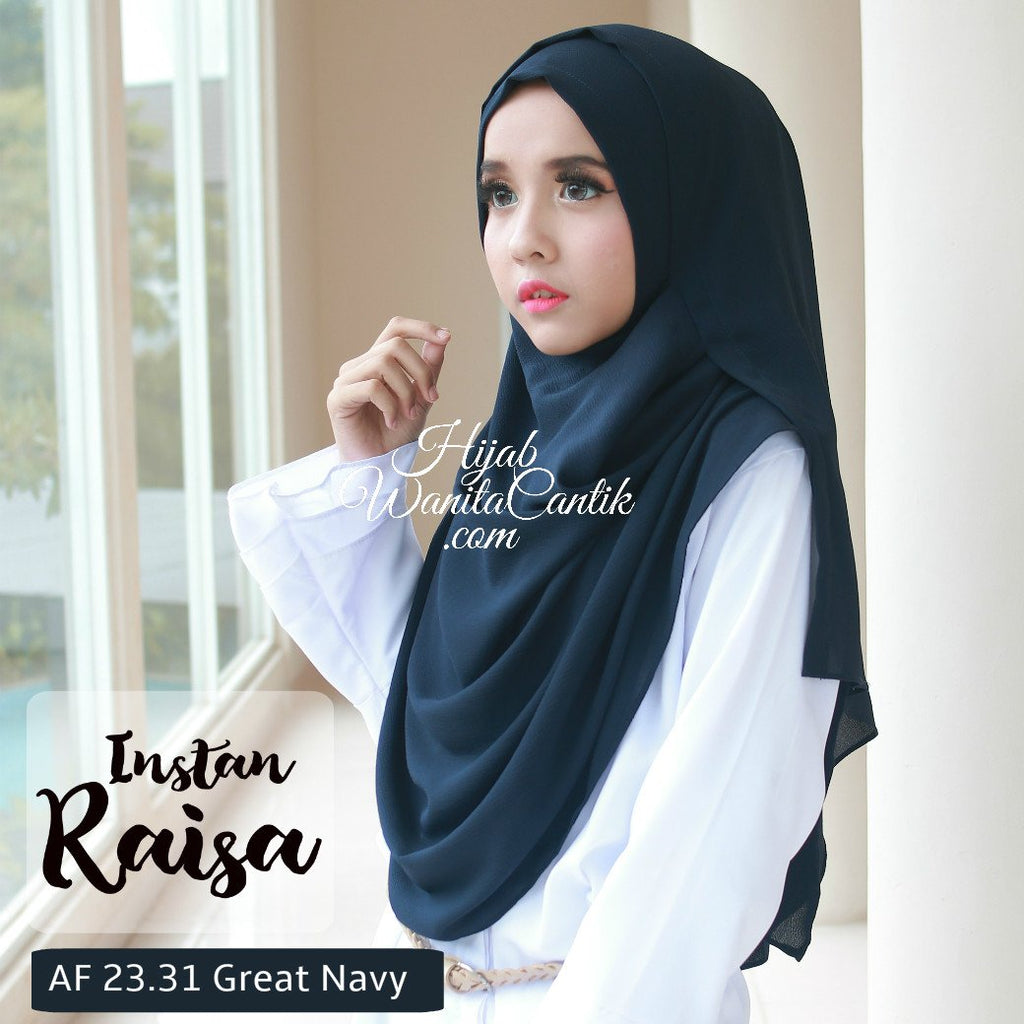 Pashmina Instan Raisa - AF23.31 Great Navy