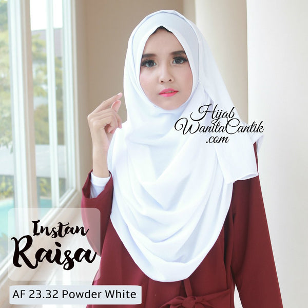 Pashmina Instan Raisa - AF23.32 Powder White