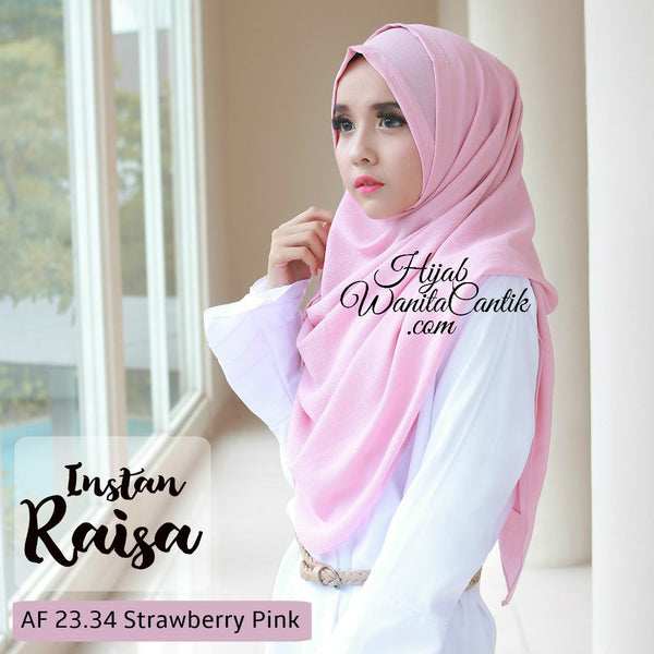 Pashmina Instan Raisa - AF23.34 Strawberry Pink