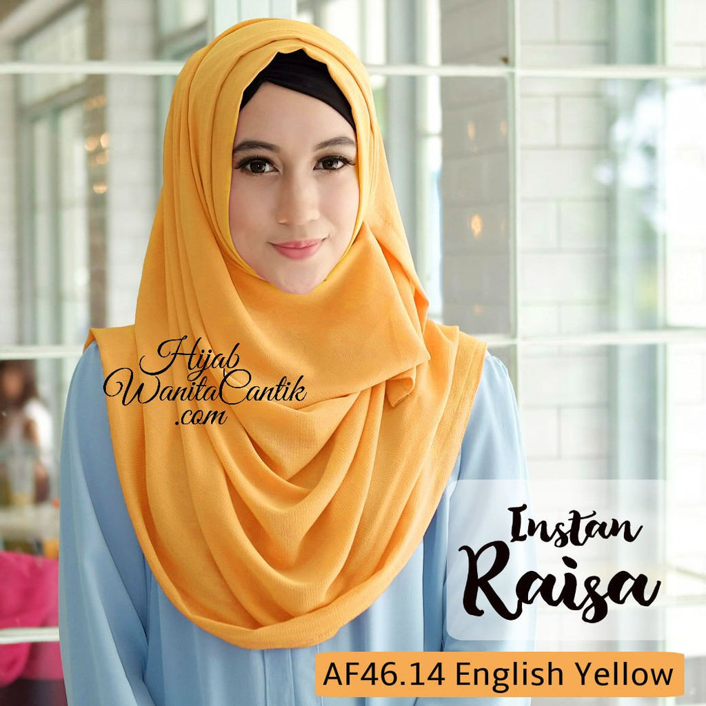 Pashmina Instan Raisa - AF46.14 English Yellow
