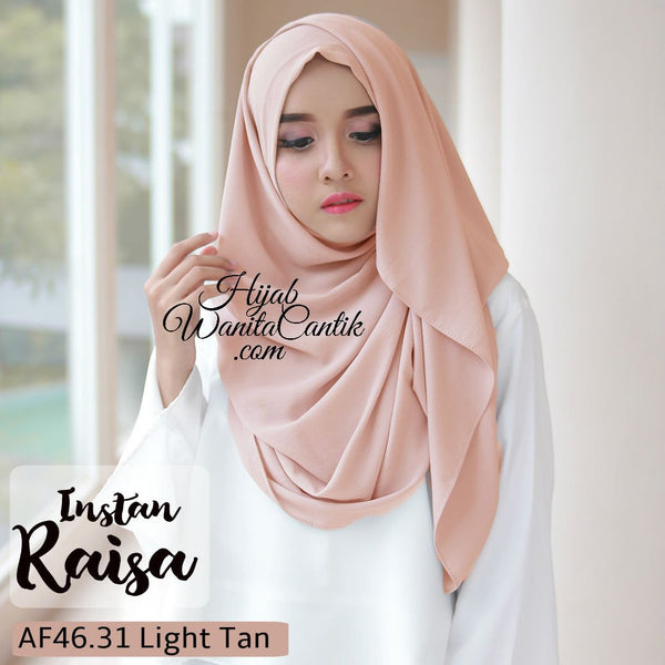 Pashmina Instan Raisa - AF46.31 Light Tan