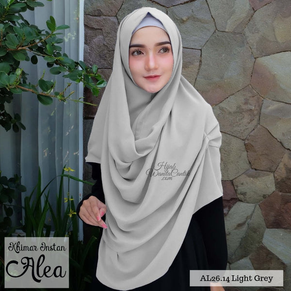 Khimar Instan Alea - AL26.14 Light Grey