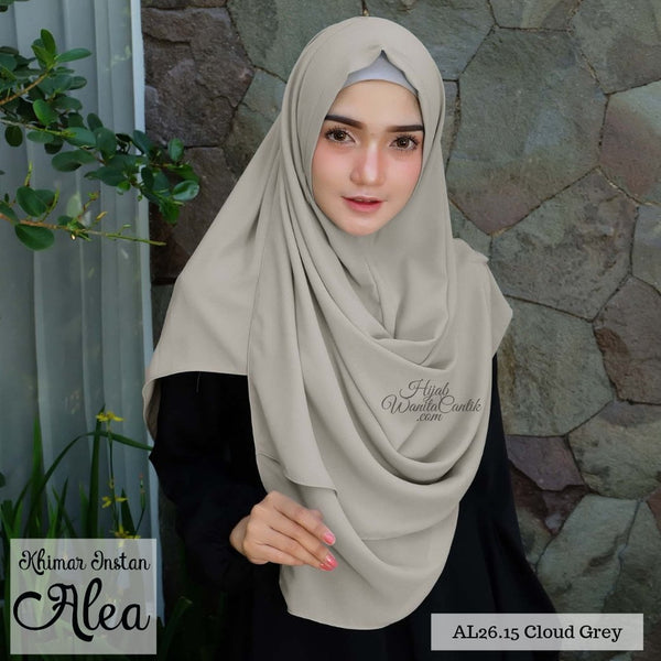 Khimar Instan Alea - AL26.15 Cloud Grey