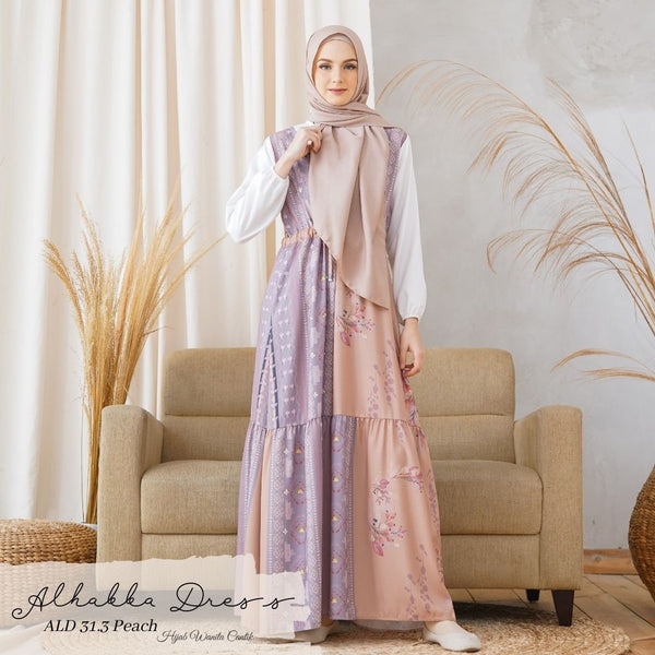 Alhabba Dress - ALD 31.3 Peach
