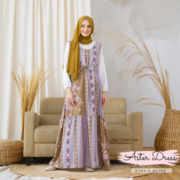 Aster Dress - AT44.2 Olive
