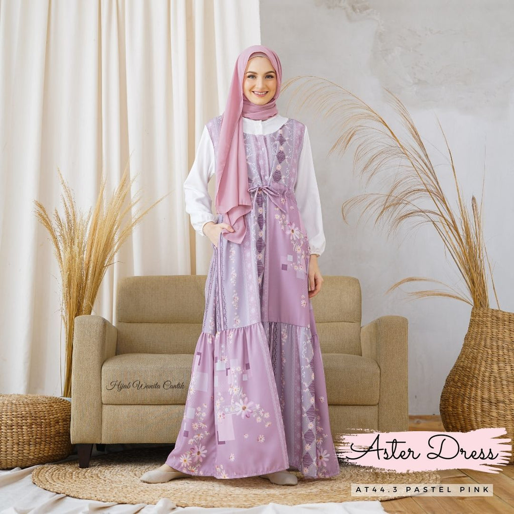 Aster Dress - AT44.3 Pastel Pink
