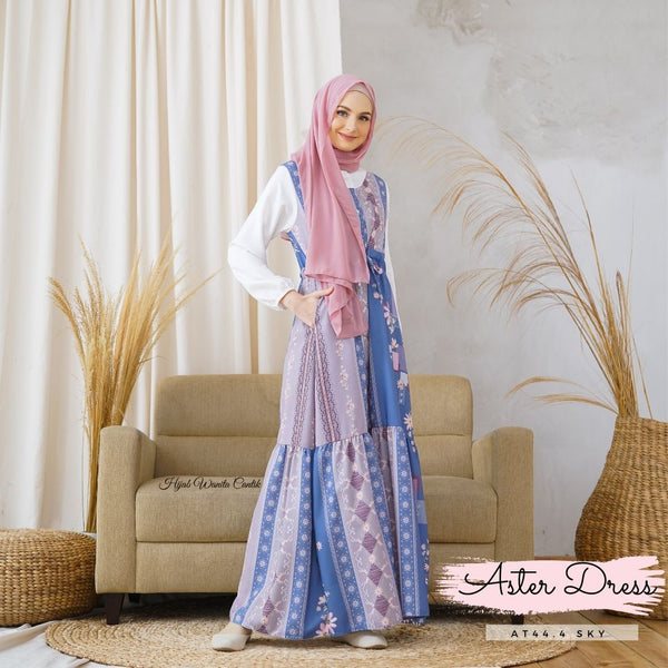Aster Dress - AT44.4 Sky