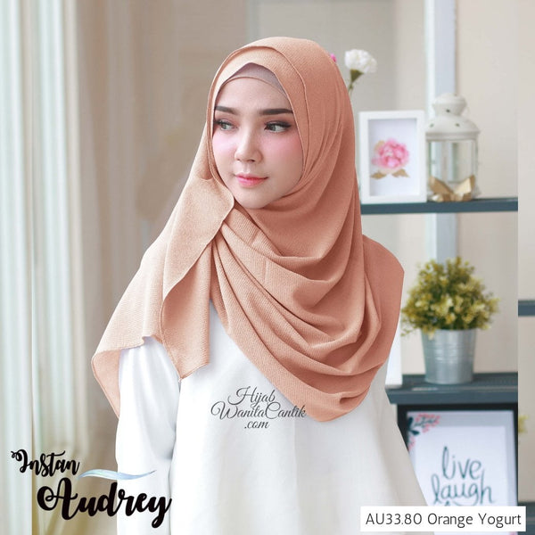 Pashmina Instan Audrey - AU33.80 Orange Yogurt