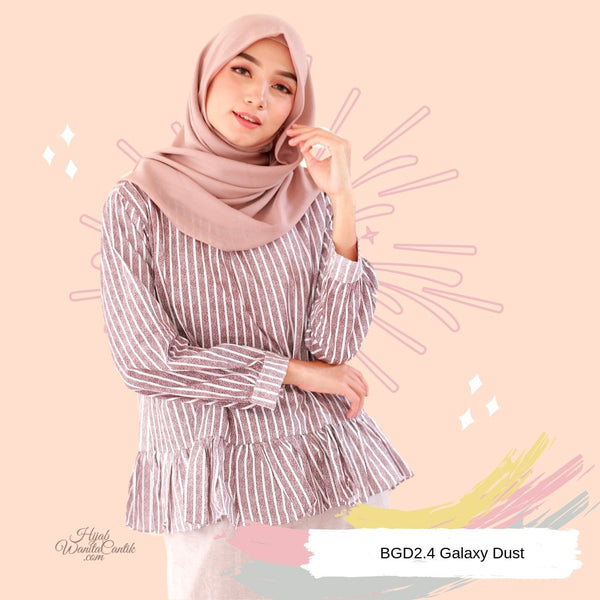 Sara Top - galaxy grey pink blue