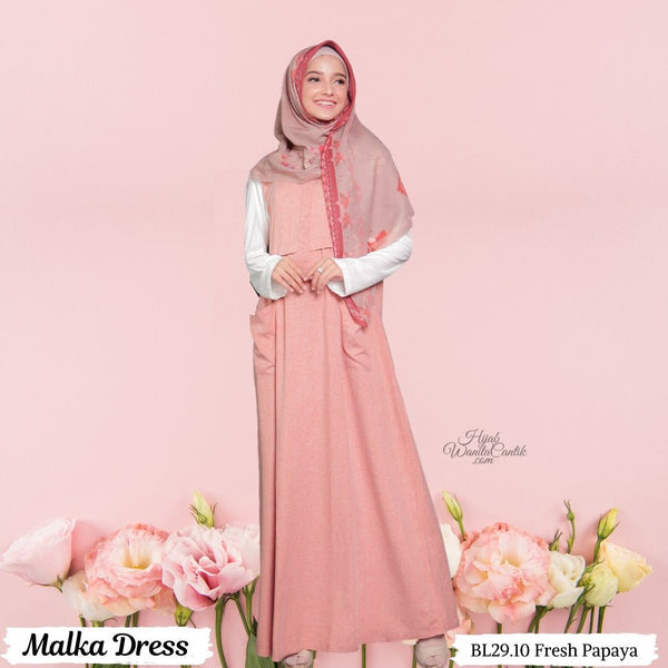 Malka Dress  - BL29.10 Fresh Papaya
