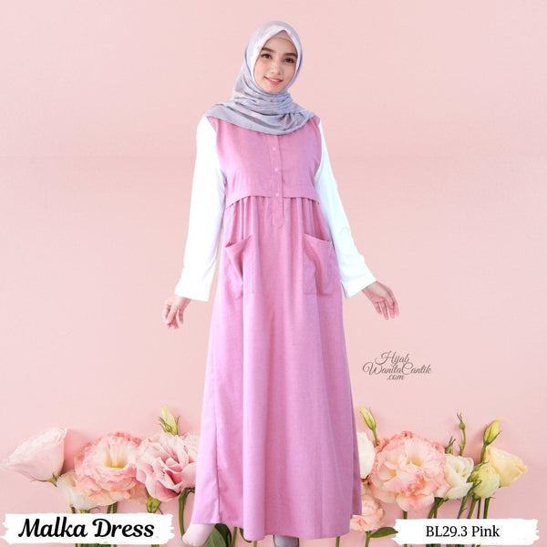 Malka Dress  - BL29.3 Pink