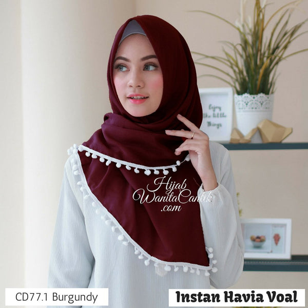 Instan Havia Voal  - CD77.1 Burgundy