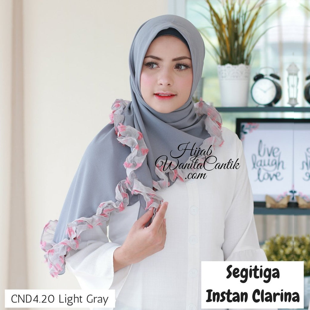 Segitiga Instan Clarina - CND4.20 Light Gray