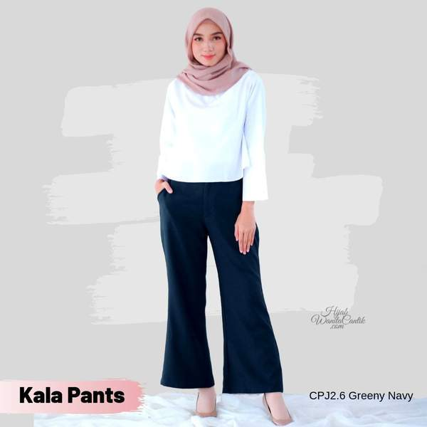 Kala Pants - Navy Maroon Mauve Purple