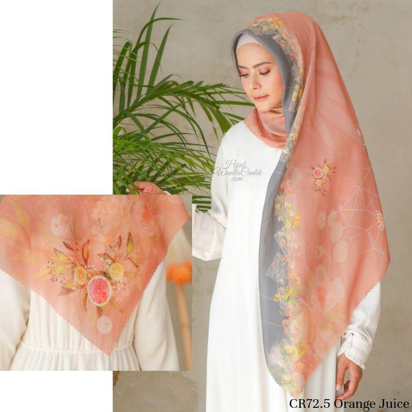 Segiempat Citrus Scarf - CR72.5 Orange Juice