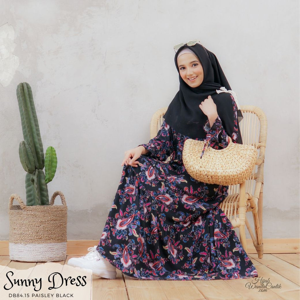 Sunny Dress - DB84.15 Paisley Black