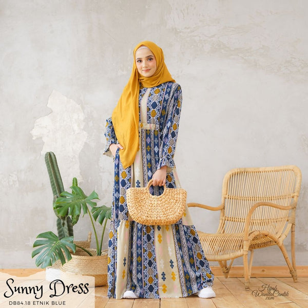 Sunny Dress - DB84.18 Etnik Blue
