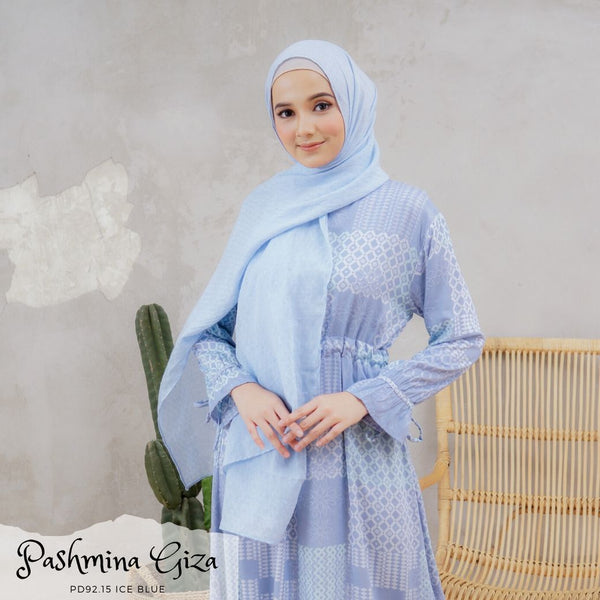 Pashmina Giza - PD92.15 Ice Blue