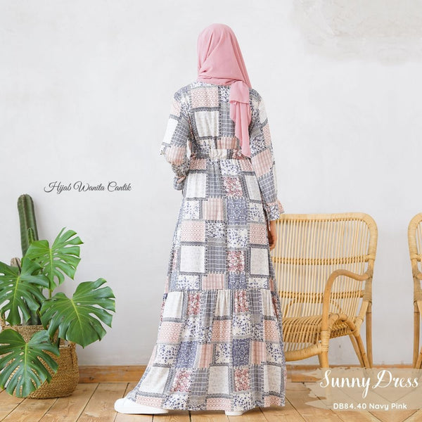Sunny Dress Adana - DB84.40 Navy Pink