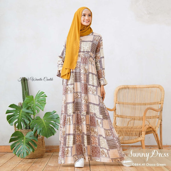 Sunny Dress Adana - DB84.41 Choco Green