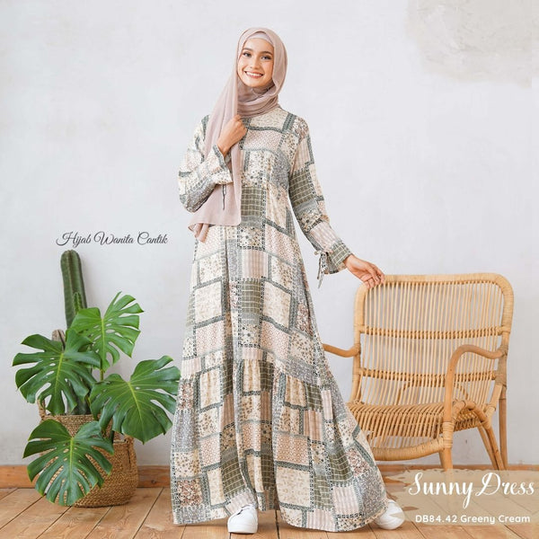 Sunny Dress Adana - DB84.42 Greeny Cream
