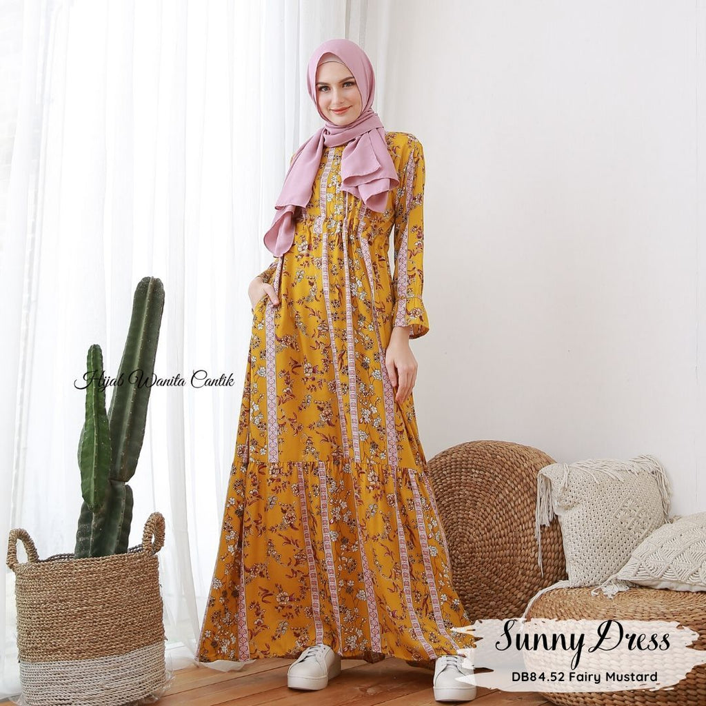 Sunny Dress - DB84.52 Fairy Mustard