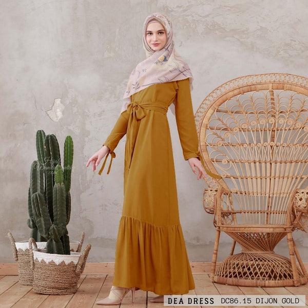 Dea Dress - DC86.15 Dijon Gold