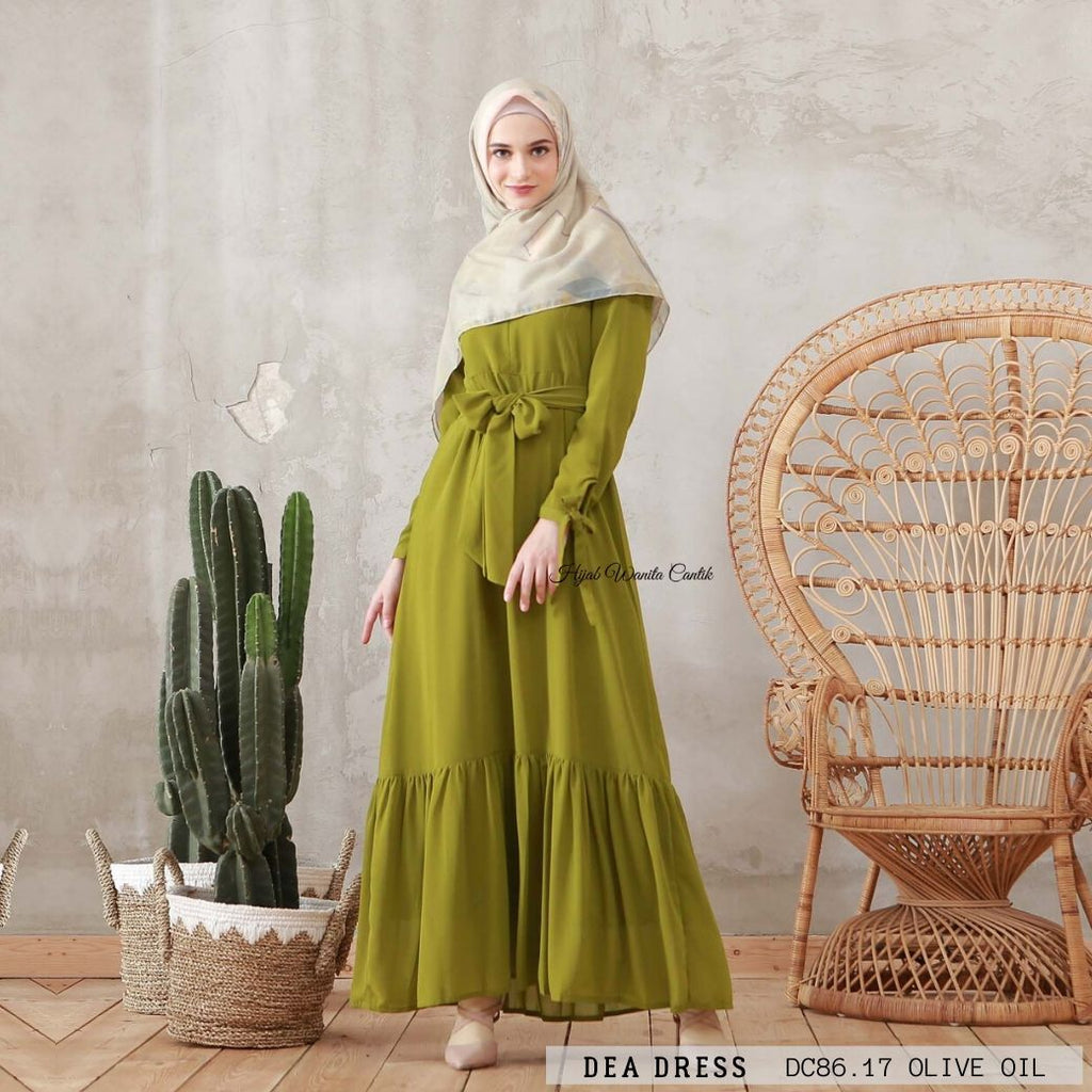 Dea Dress - DC86.17 Olive Oil