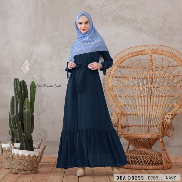 Dea Dress - DC86.1 Navy