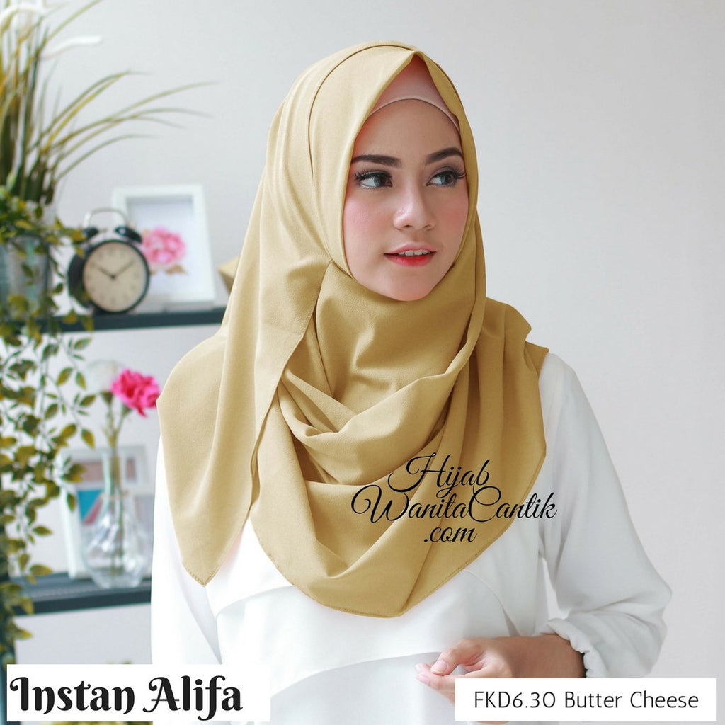 Pashmina Instan Alifa - FKD6.30 Butter Cheese