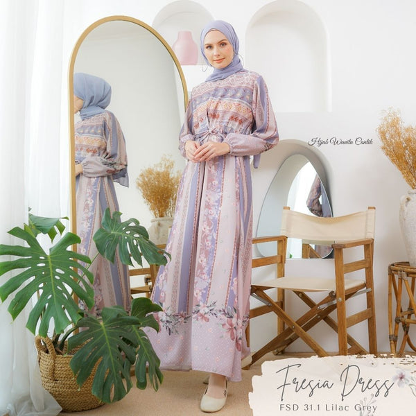 Fresia Dress - FSD 31.1 Lilac Grey
