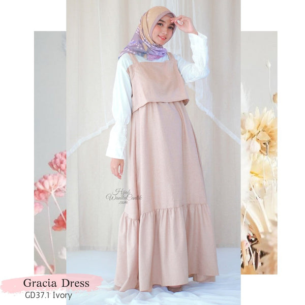 Gracia Dress - GD37.1 Ivory