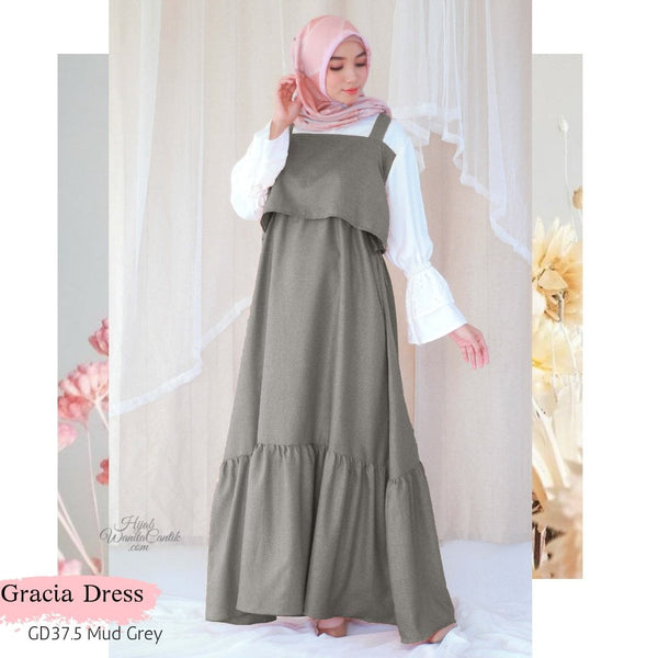 Gracia Dress - GD37.5 Mud Grey