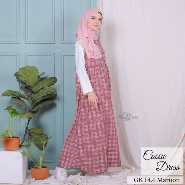 Cassie Dress - GKT4.4 Maroon