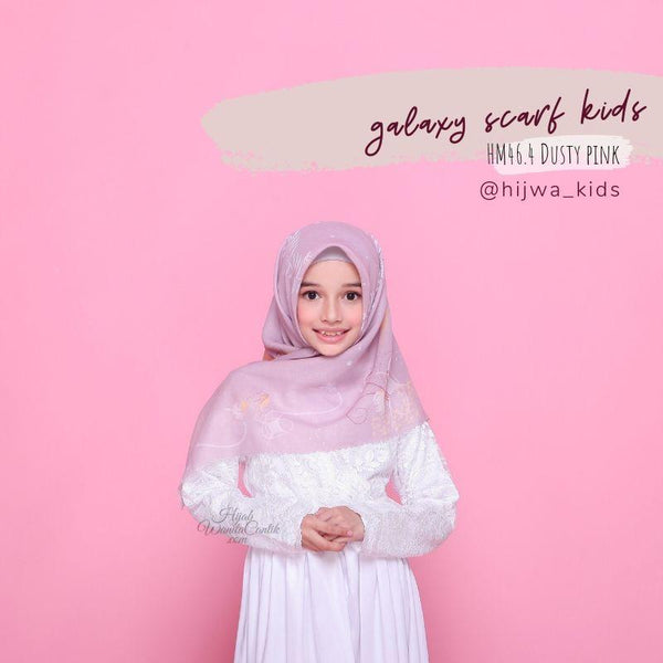 Segiempat Galaxy Scarf Kids - HM46.4 Dusty pink
