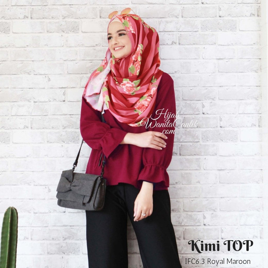 Kimi Top - IFC6.3 Royal Maroon