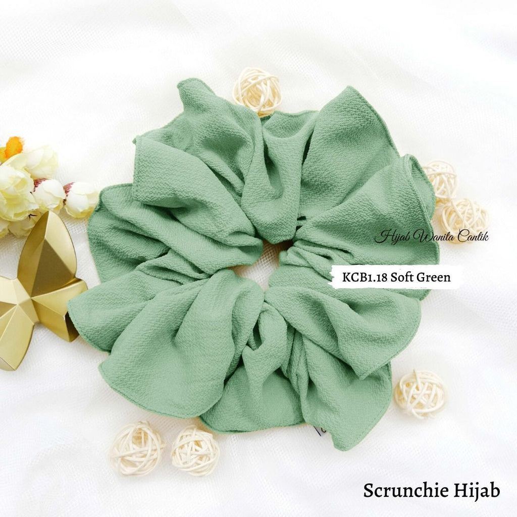 Scrunchie Hijab Bubble Ikat Rambut Anti Pusing KCB1.18 Soft Green