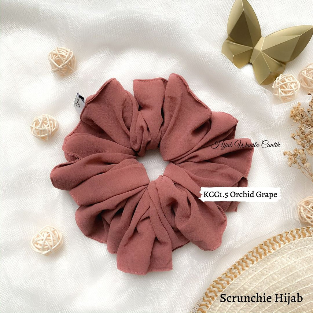 Scrunchie Hijab Cerutti Ikat Rambut Anti Pusing KCC1.5 Orchid Grape