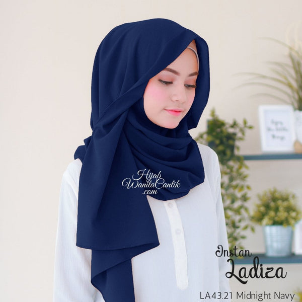 Pashmina Instan Ladiza - LA43.21 Midnight Navy